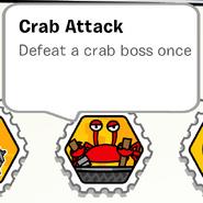 Crab attack stamp book