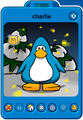 Charlie Player Card - Late February 2020 - Club Penguin Rewritten
