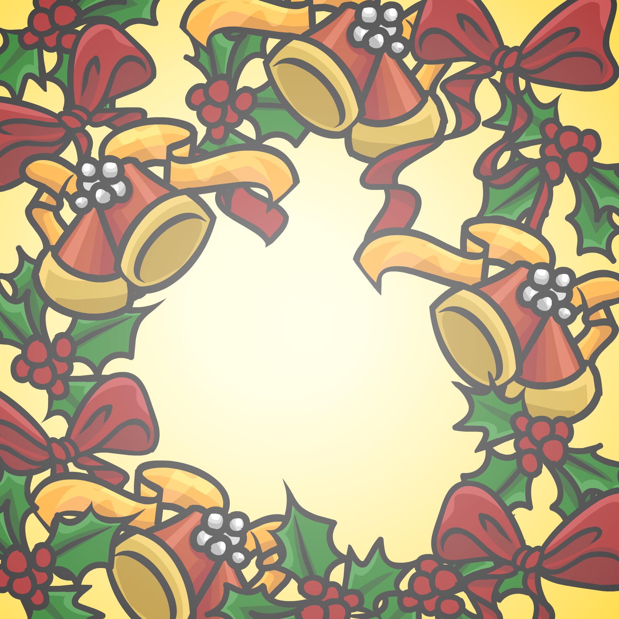 Holiday Wreath Background
