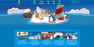 Homepage with Migrator - Club Penguin Rewritten