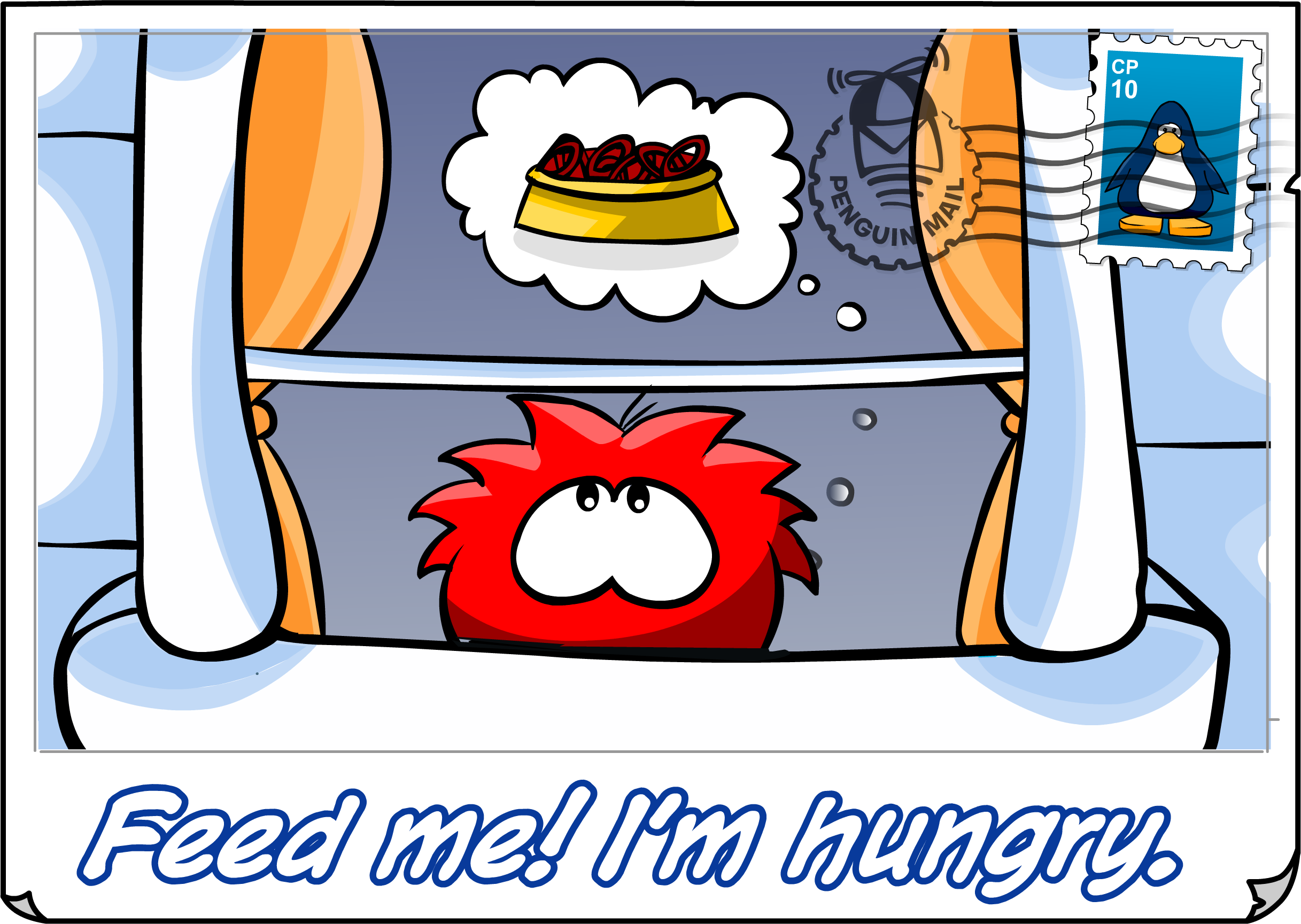 Feed Me Postcard