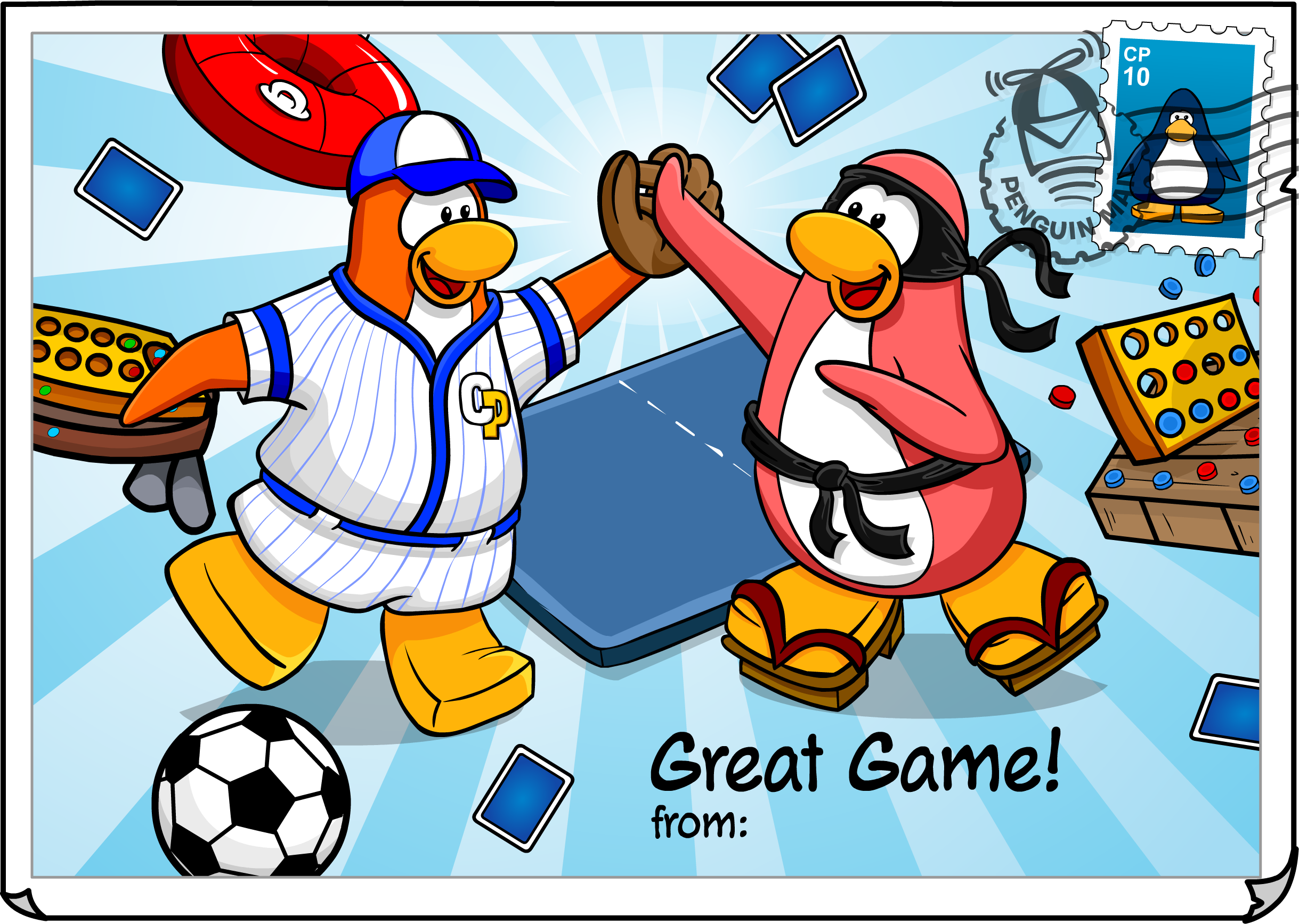Great Game Postcard