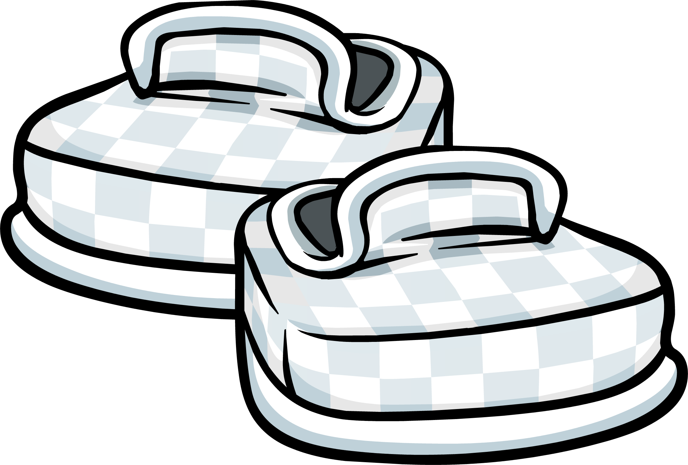 White Checkered Shoes