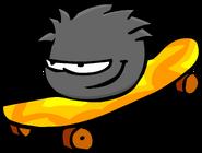 Black Puffle Skateboard