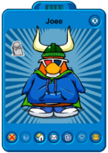 Joee Player Card - Early March 2020 - Club Penguin Rewritten.png