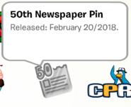 50th Newspaper Pin SB