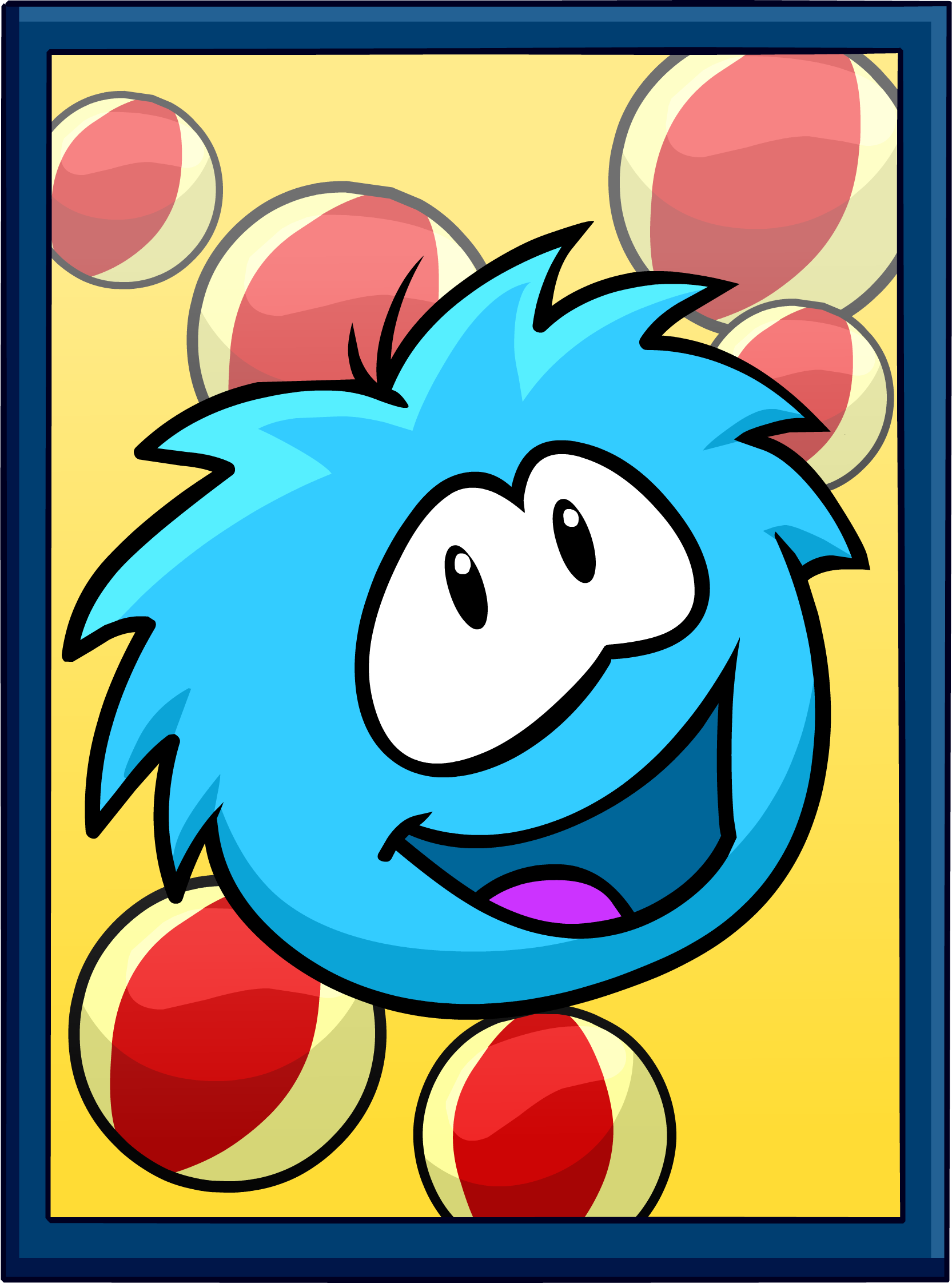 Blue Puffle Poster