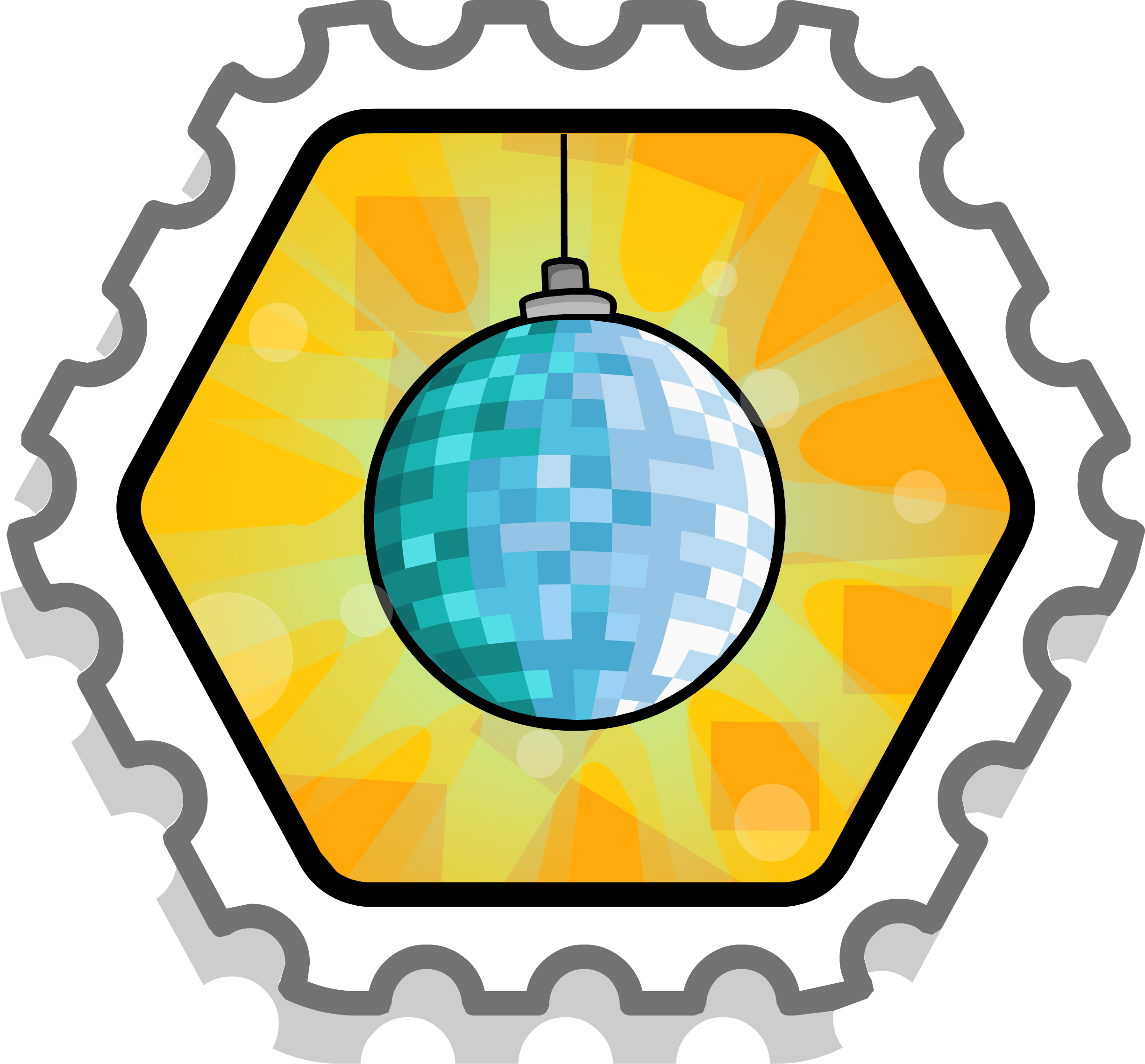 Disco Throwdown Stamp