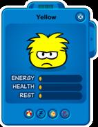 Low Yellow Puffle Card