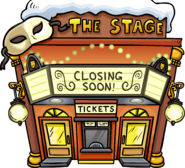 Waddle On Party Stage Exterior