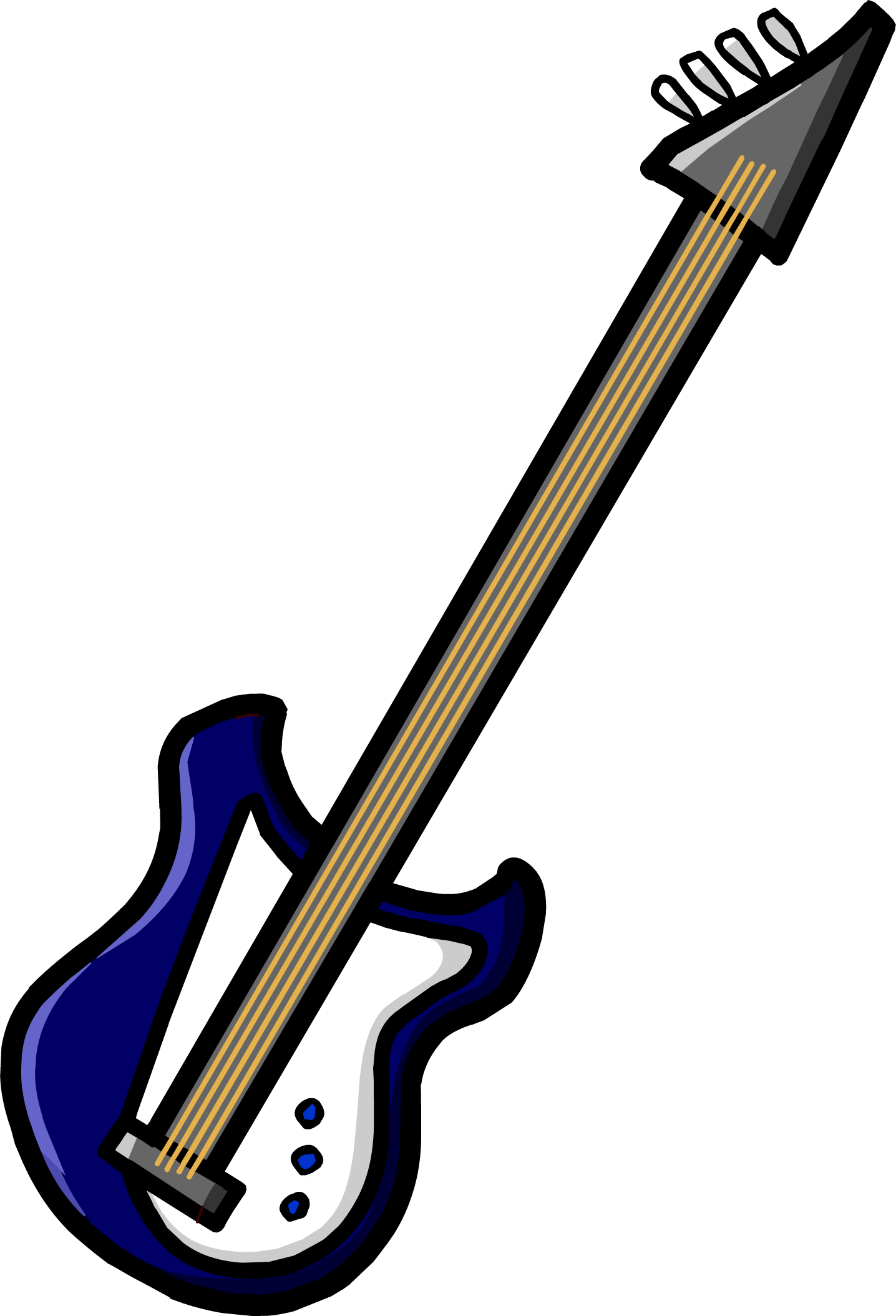 Blue Electric Bass