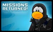 Missions Returned Login Screen