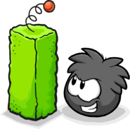 Black Puffle Small Scratching Post