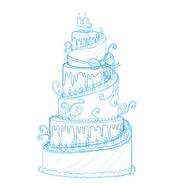 4th Anniversary Cake Concept