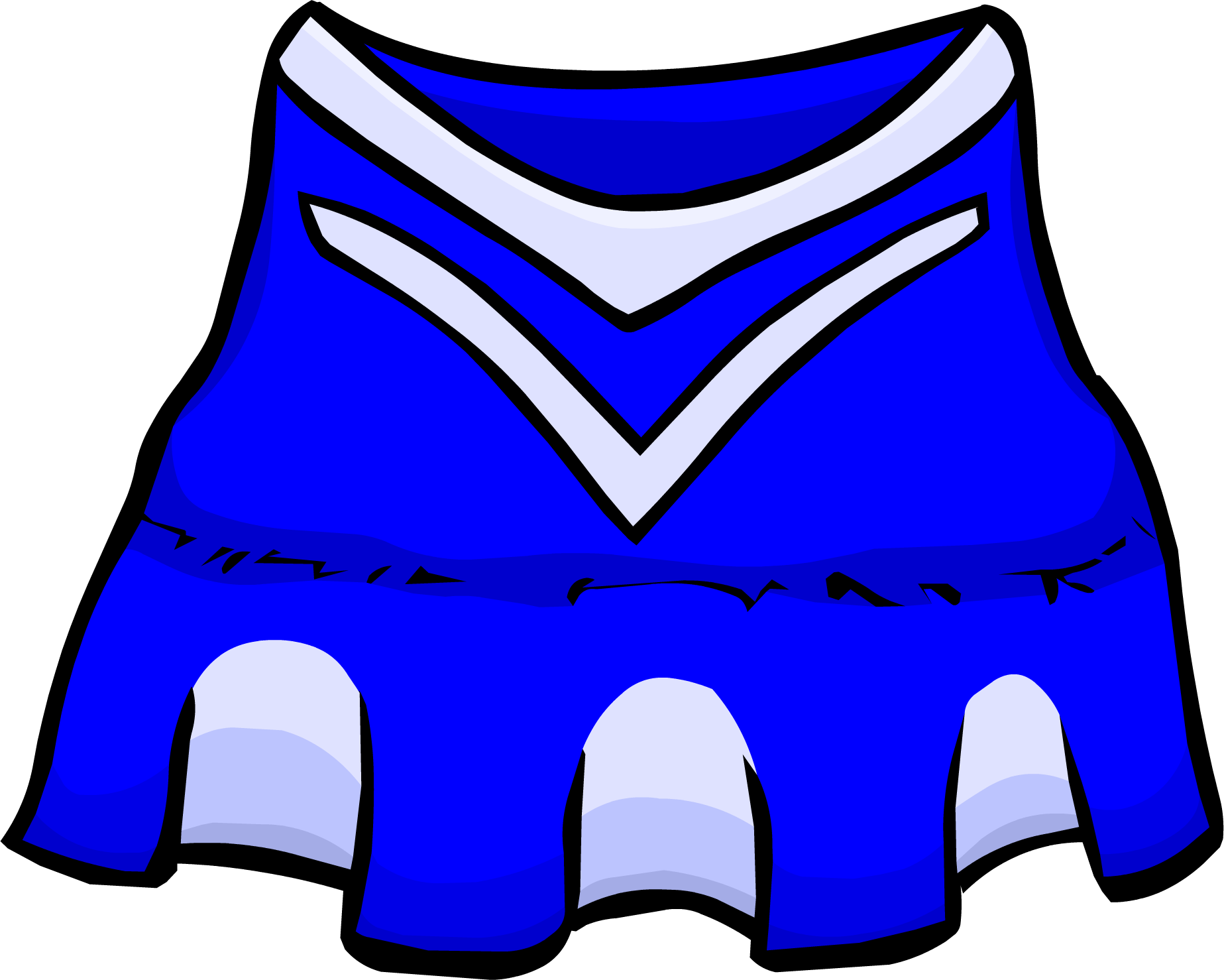 Blue Cheerleader Outfit