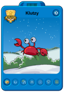 Klutzy's Player Card