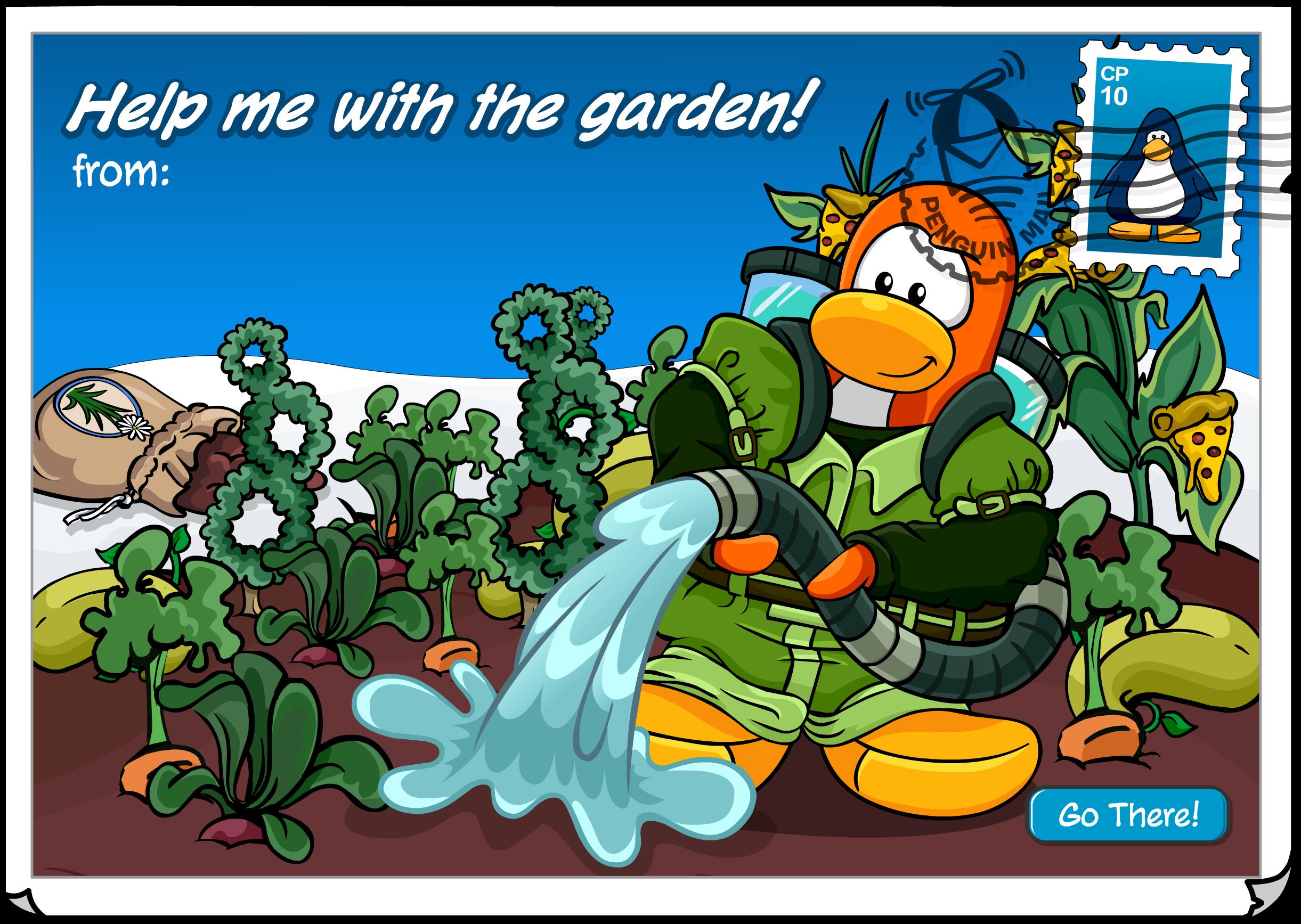 Community Garden Postcard
