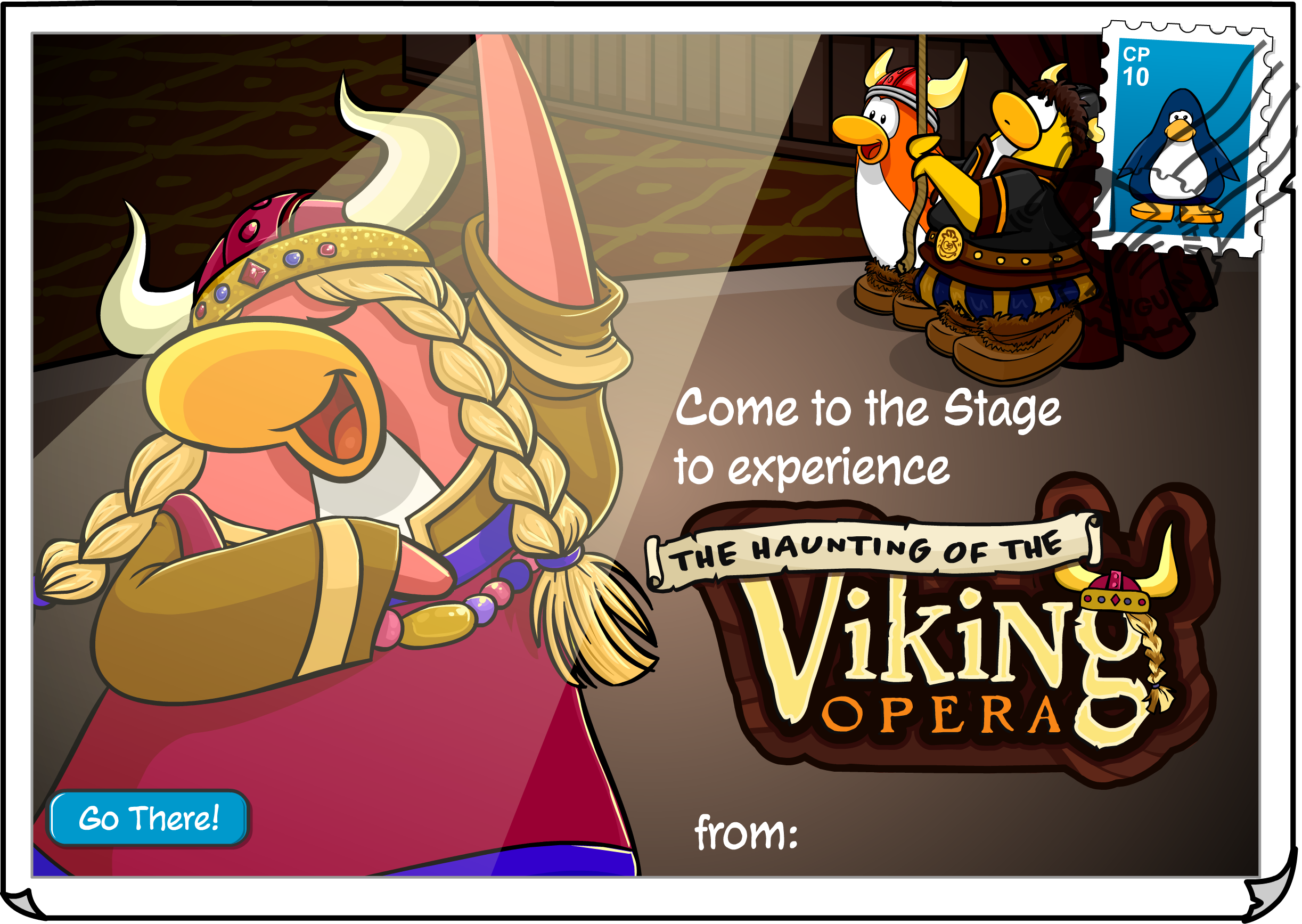 Haunting of the Viking Opera Postcard