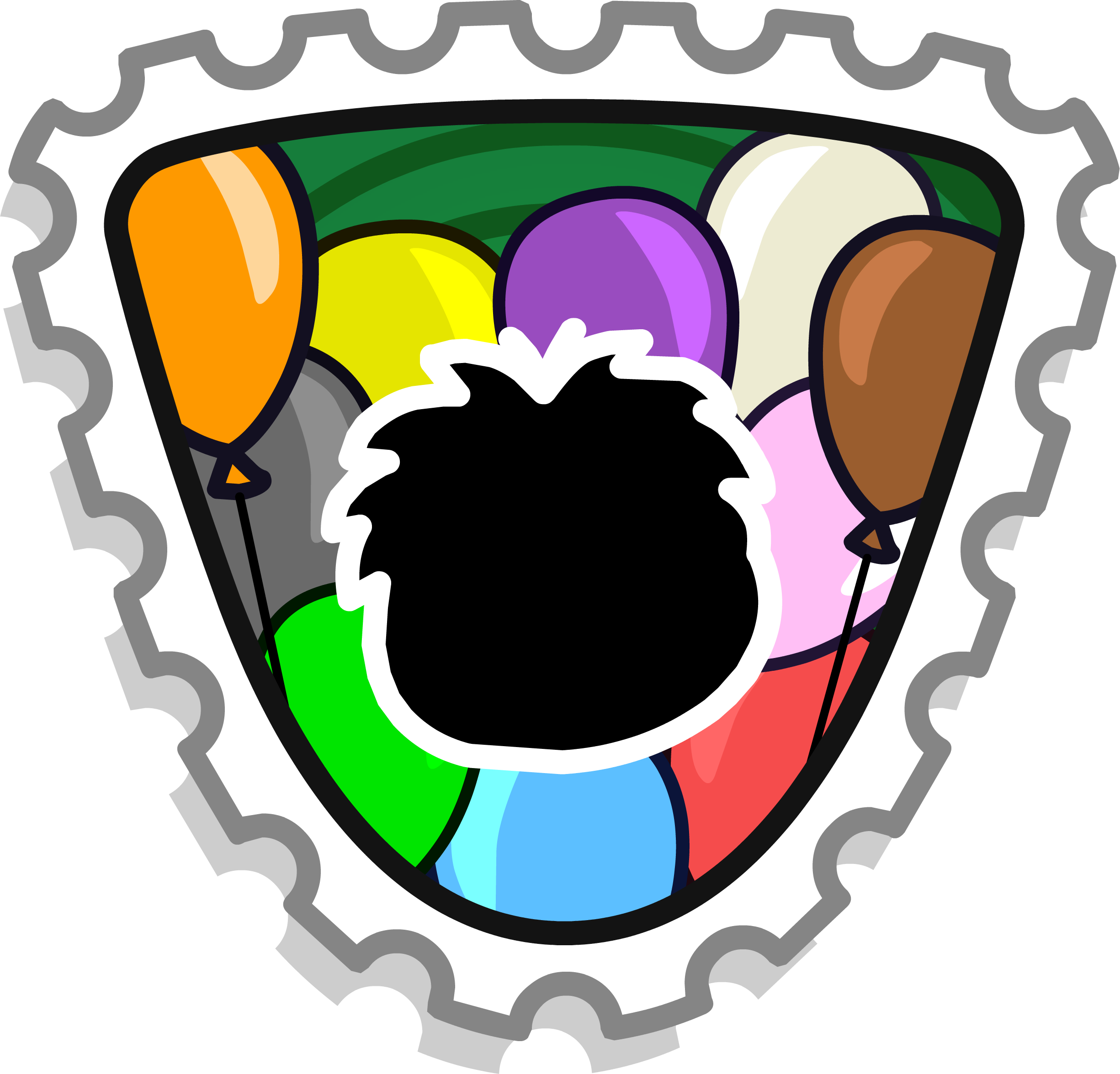 Party Puffle Stamp