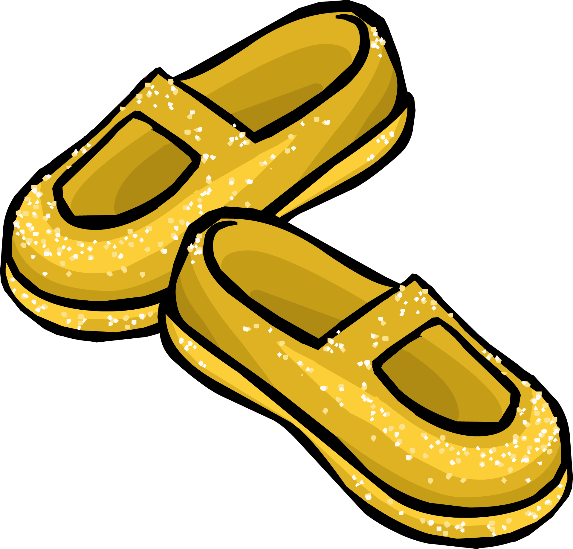 Yellow Stardust Slippers
