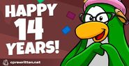 Club Penguin 14th Anniversary Party Splash art 2