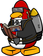 Jet Pack Guy reading The F.I.S.H