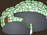Green Split Level Igloo