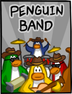 Penguin Band Music Jam Poster