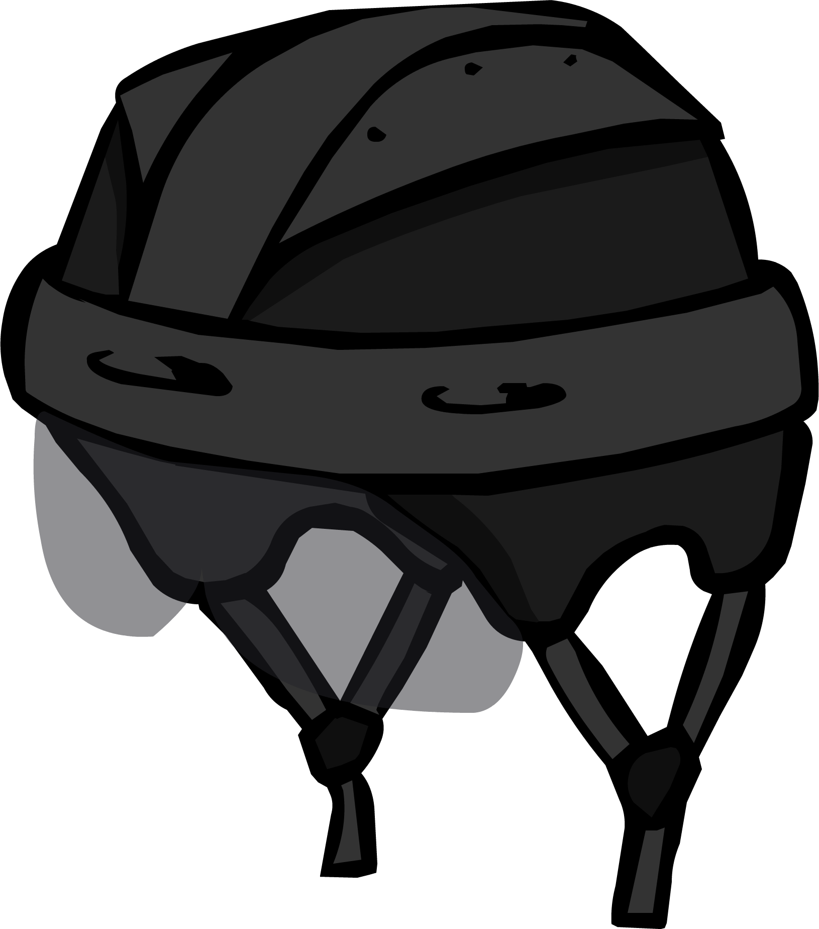 Black Hockey Helmet