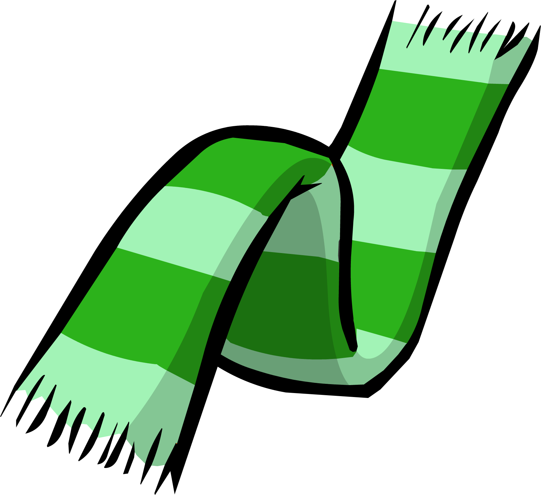 Green Two Tone Scarf