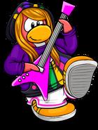 Neon Electro Hoodie Penguin