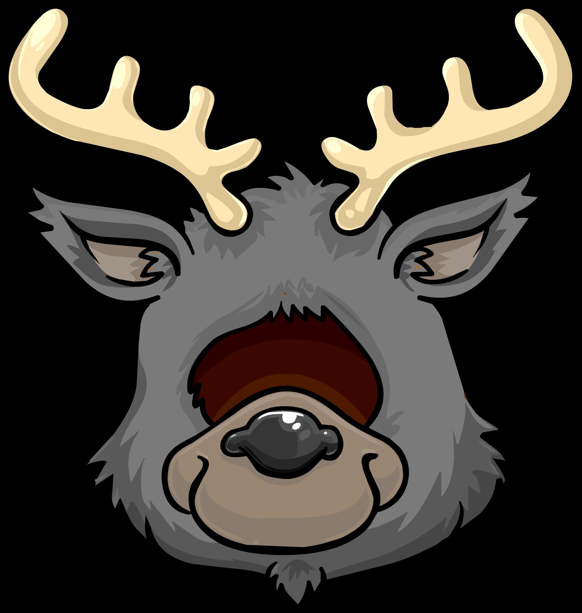 Icy Reindeer Head
