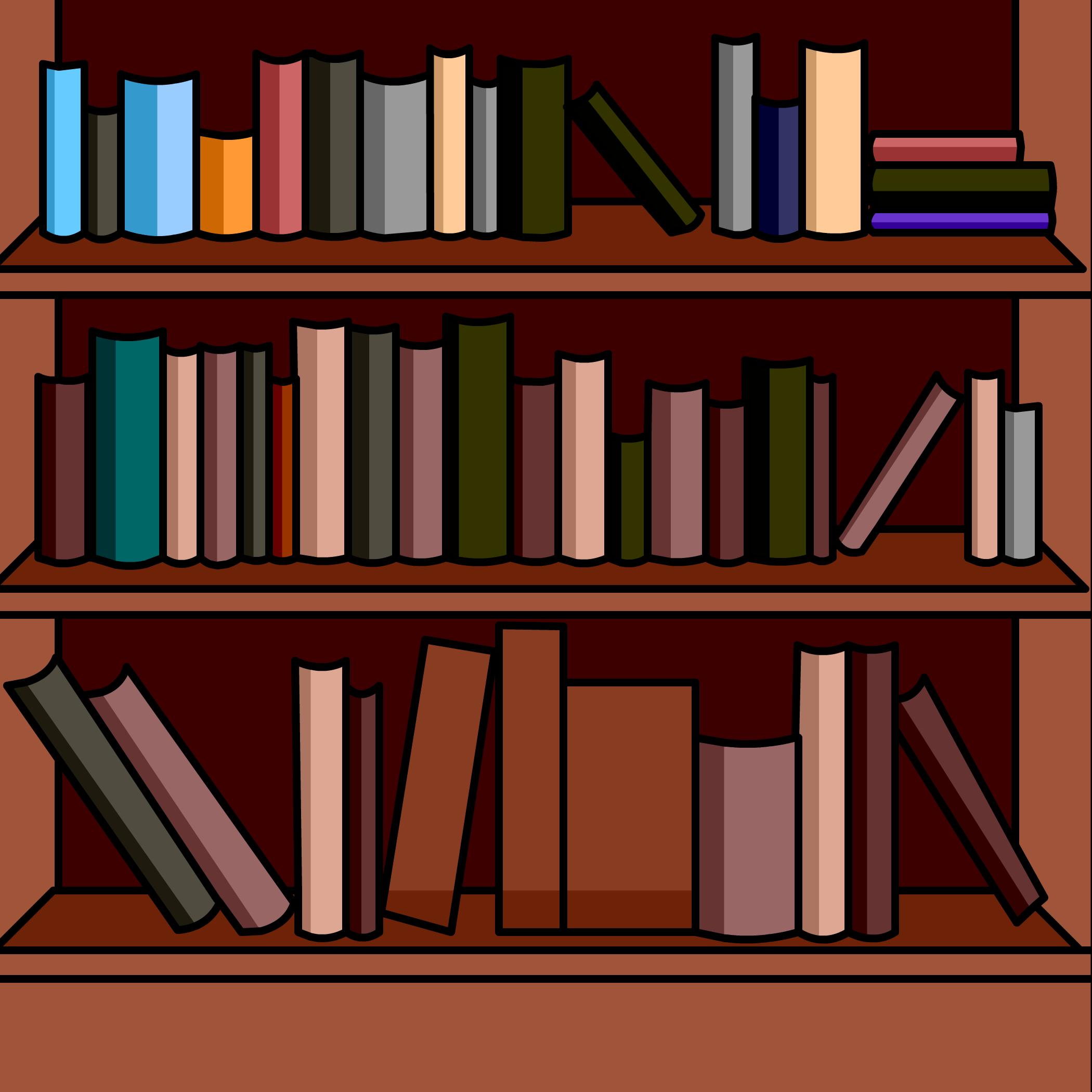 Bookshelves Background
