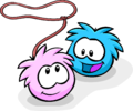 Blue and Pink Puffle Love Your Pet