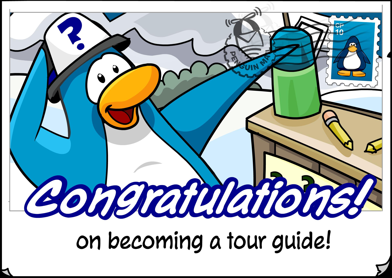 Congratulations Tour Guide Postcard