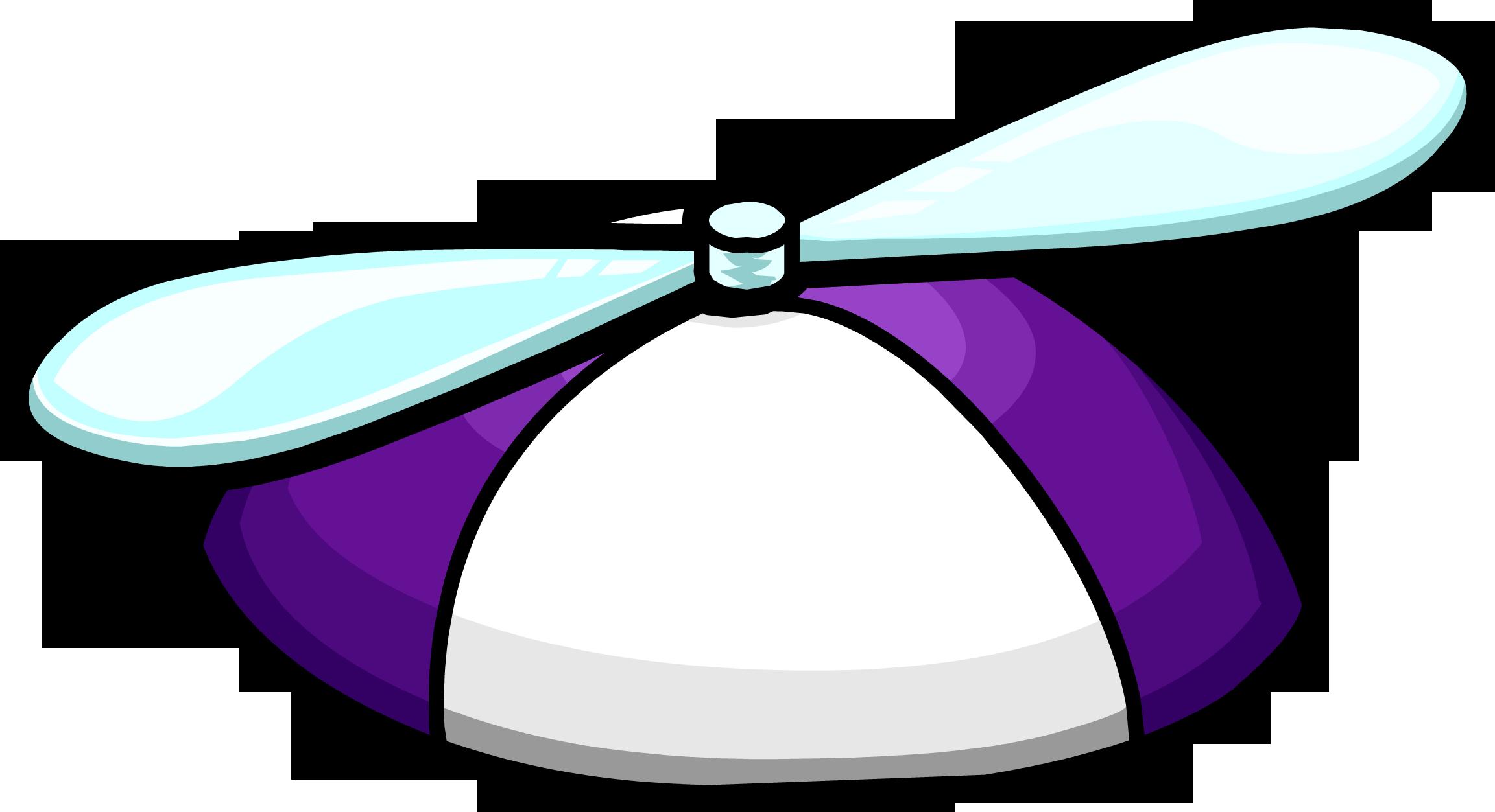 Purple Propeller Cap