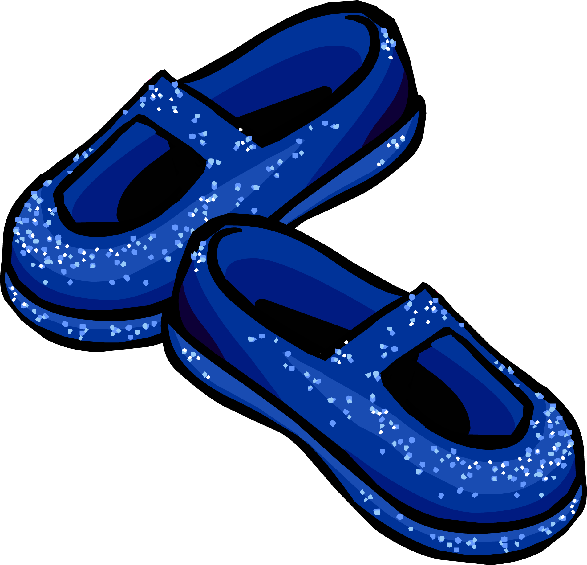 Blue Stardust Slippers