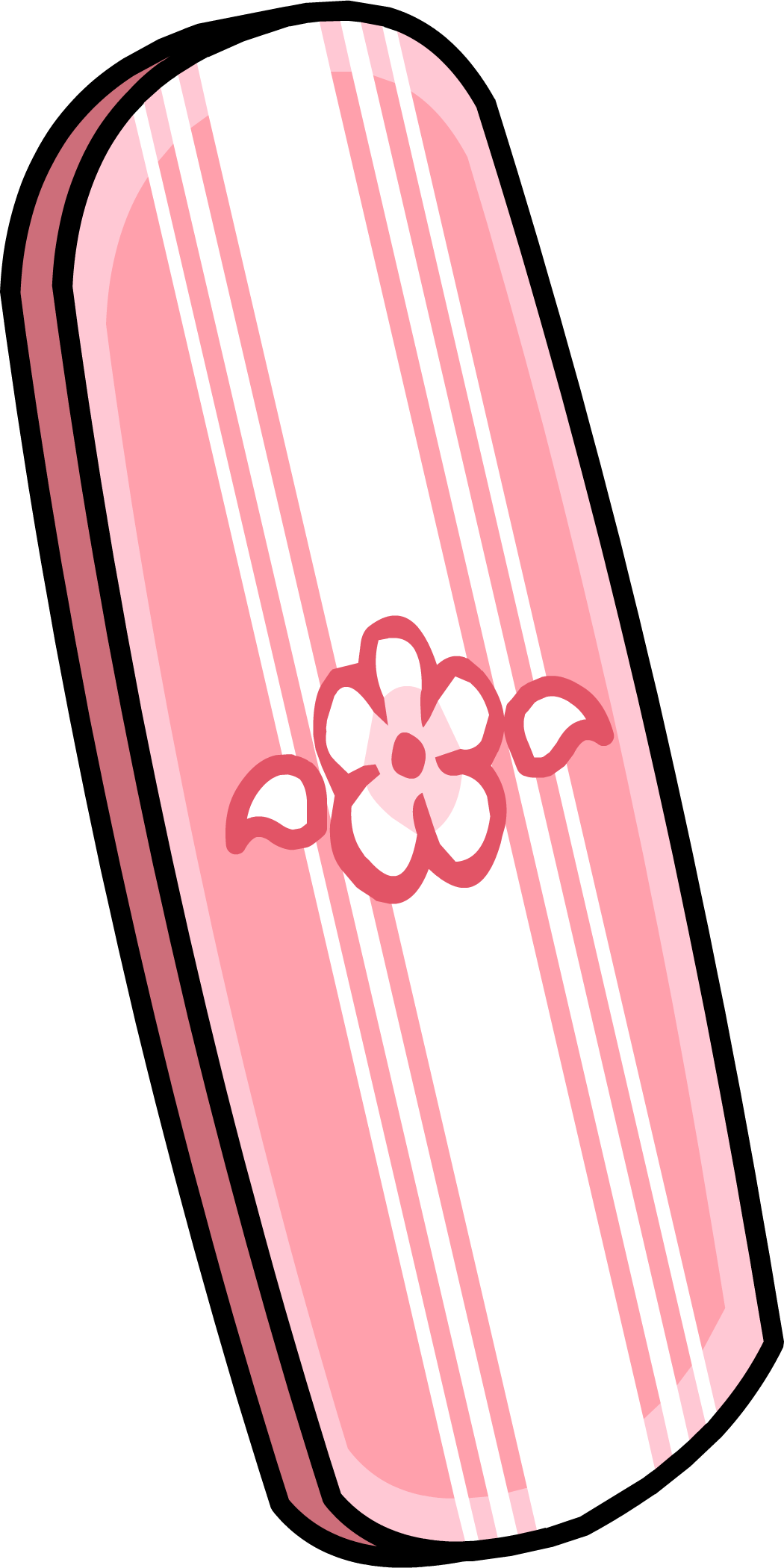 Pink Striped Wakeboard