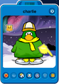 Charlie Player Card - Late January 2020 - Club Penguin Rewritten
