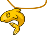 14K Fish Necklace