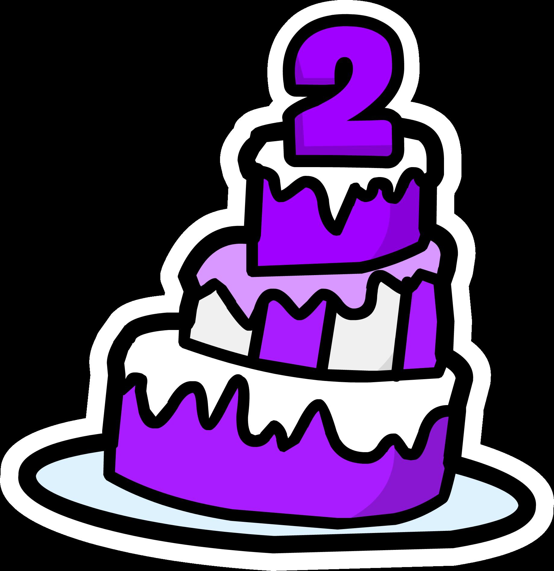 2nd Anniversary Cake Pin