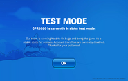 CPR2020 Test Mode Screen