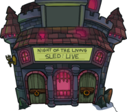 Night of the Living Sled Live- Exterior - Halloween Party 2020