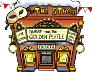 Quest for the Golden Puffle April Fools' Party 2017 Exterior