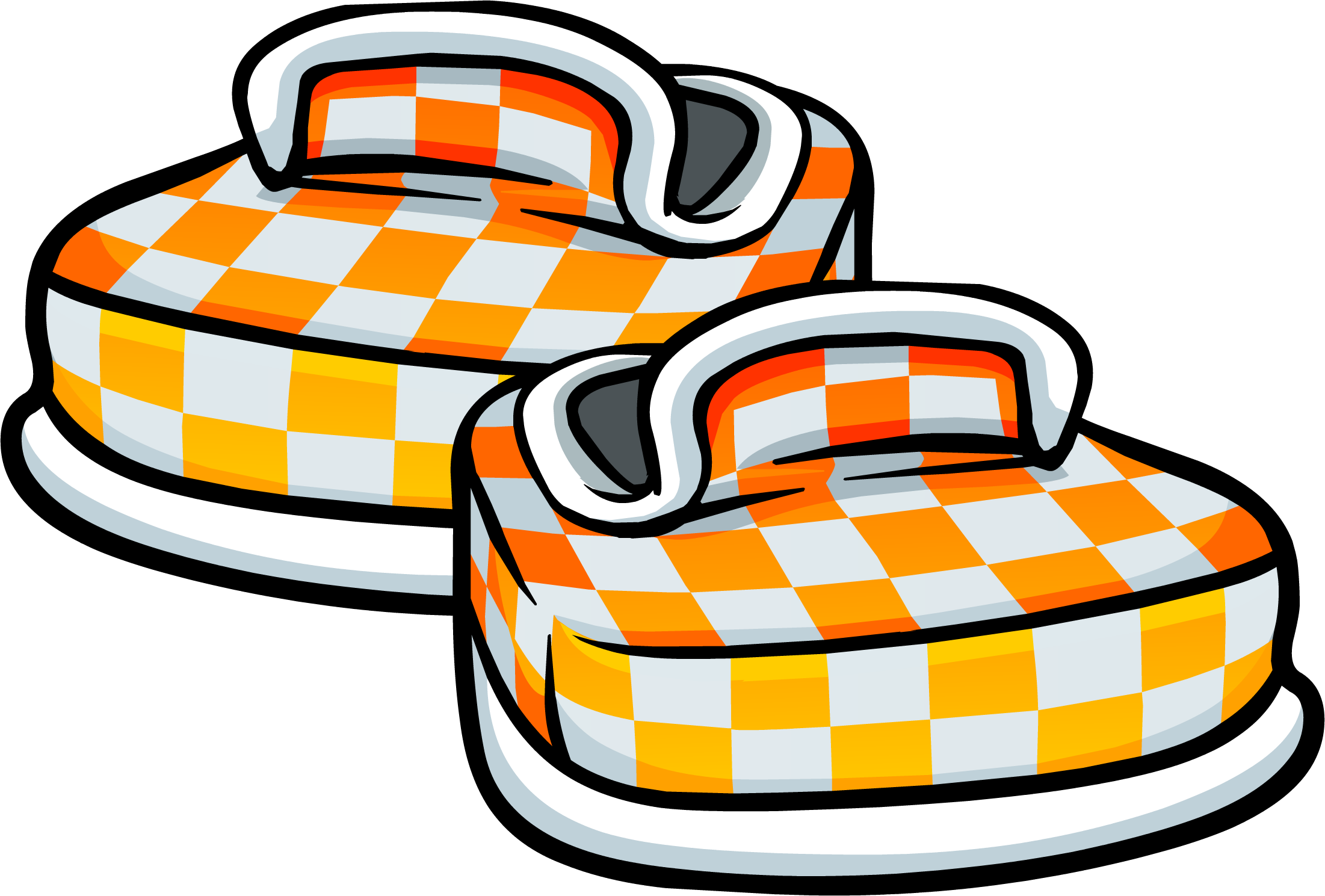 Orange Checkered Shoes