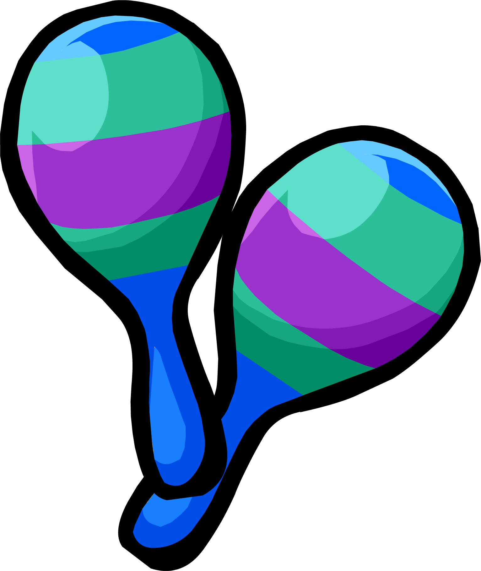 Green and Blue Maracas