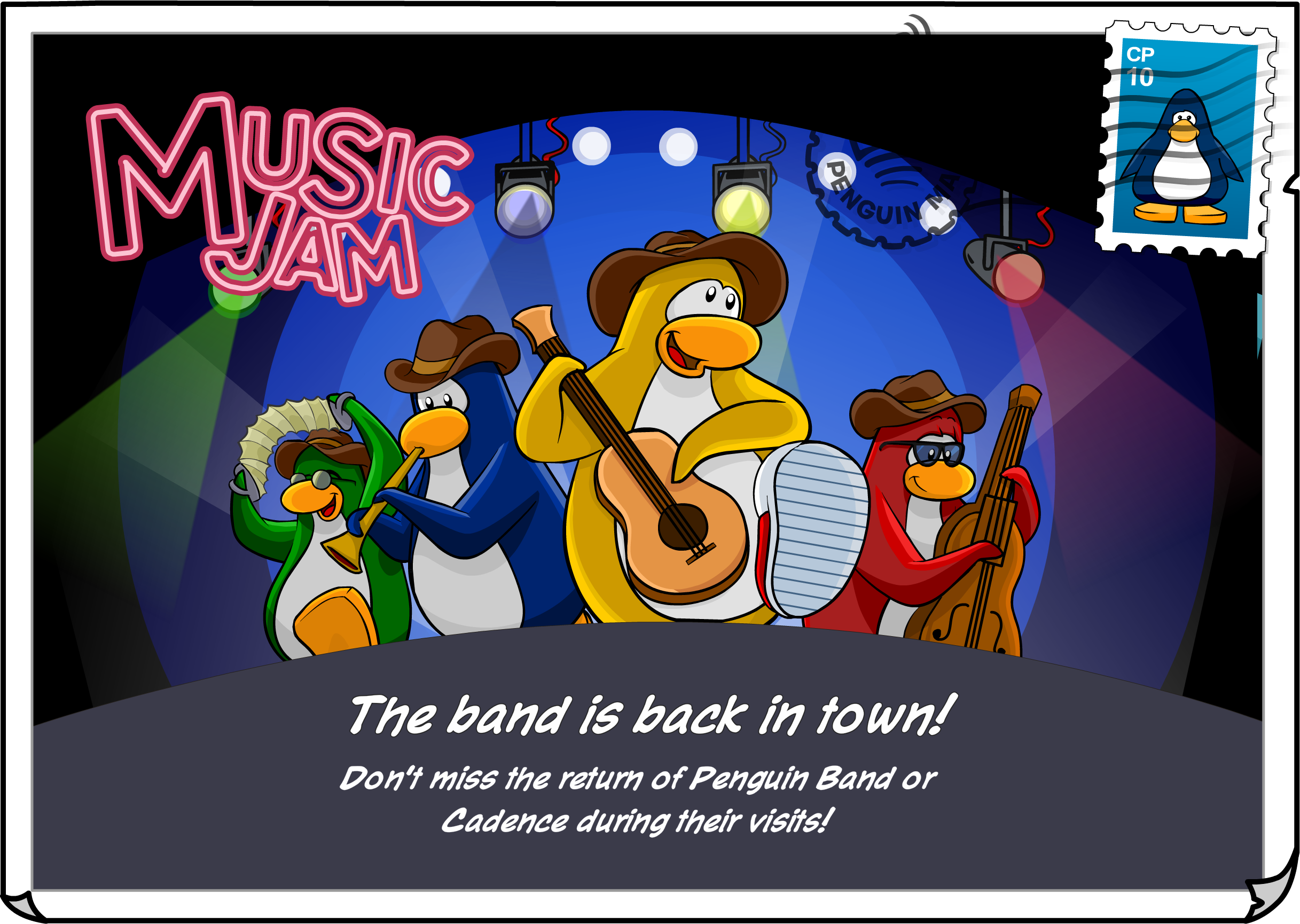 Music Jam 2020 Postcard