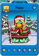 Flippy Player Card - Late December 2018 - Club Penguin Rewritten