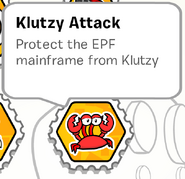 Klutzy attack stamp book