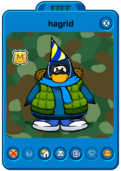 Hagrid Player Card - Early December 2018 - Club Penguin Rewritten.png